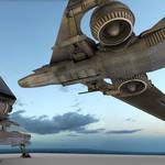Futuristic combat jet Download