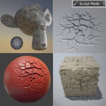 Dried Ground Brush+setup for Sculpting in Blender by DennisH2010