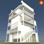 Tower-House Design - Blender Game Engine by DennisH2010