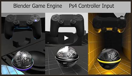 Ps4 Controller input - Blender Game Engine by DennisH2010