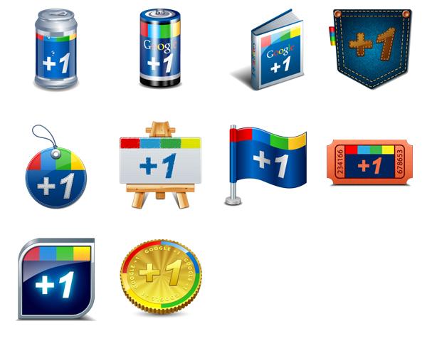 Google plus one icons