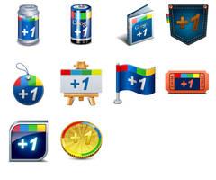 Google plus one icons by truemisha