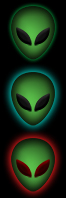 Alien Head Orb Start Menu Button 66 x 198 by McDUG