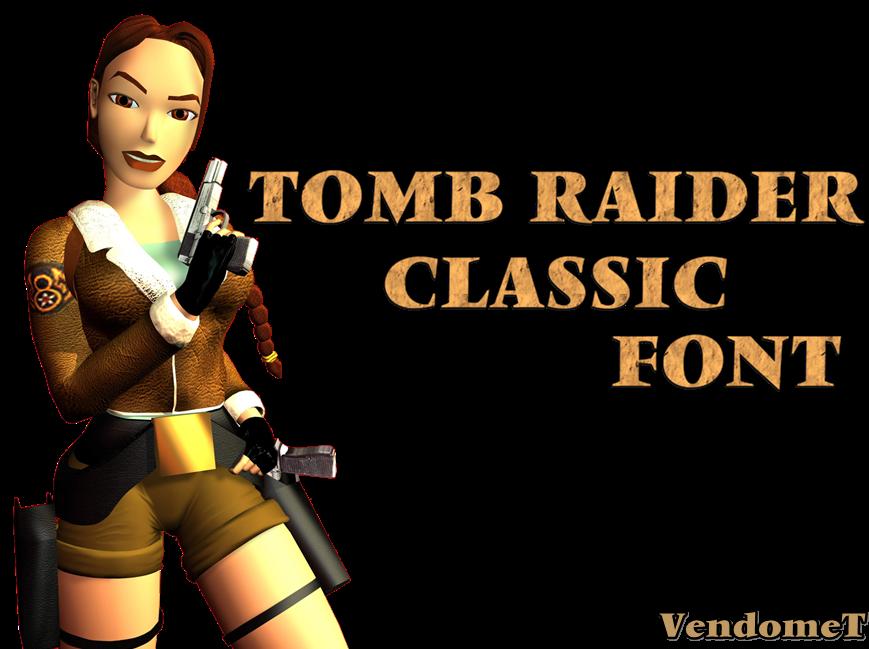 Tomb Raider Classic Font DOWNLOAD by Pedro-Croft