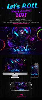 Let's Roll new year Wallpaper by dennybusyet