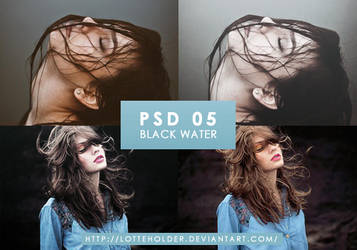 PSD 05 | Black Water by lottesgraphics