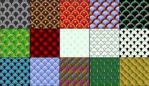 15 vector fish and serpent scale patterns