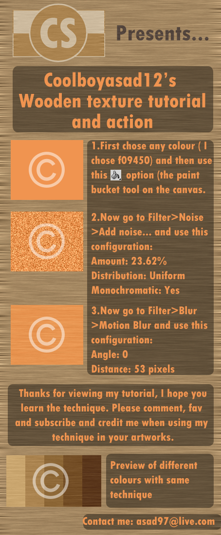 Wooden Texture Tutorial.... by Coolboyasad12