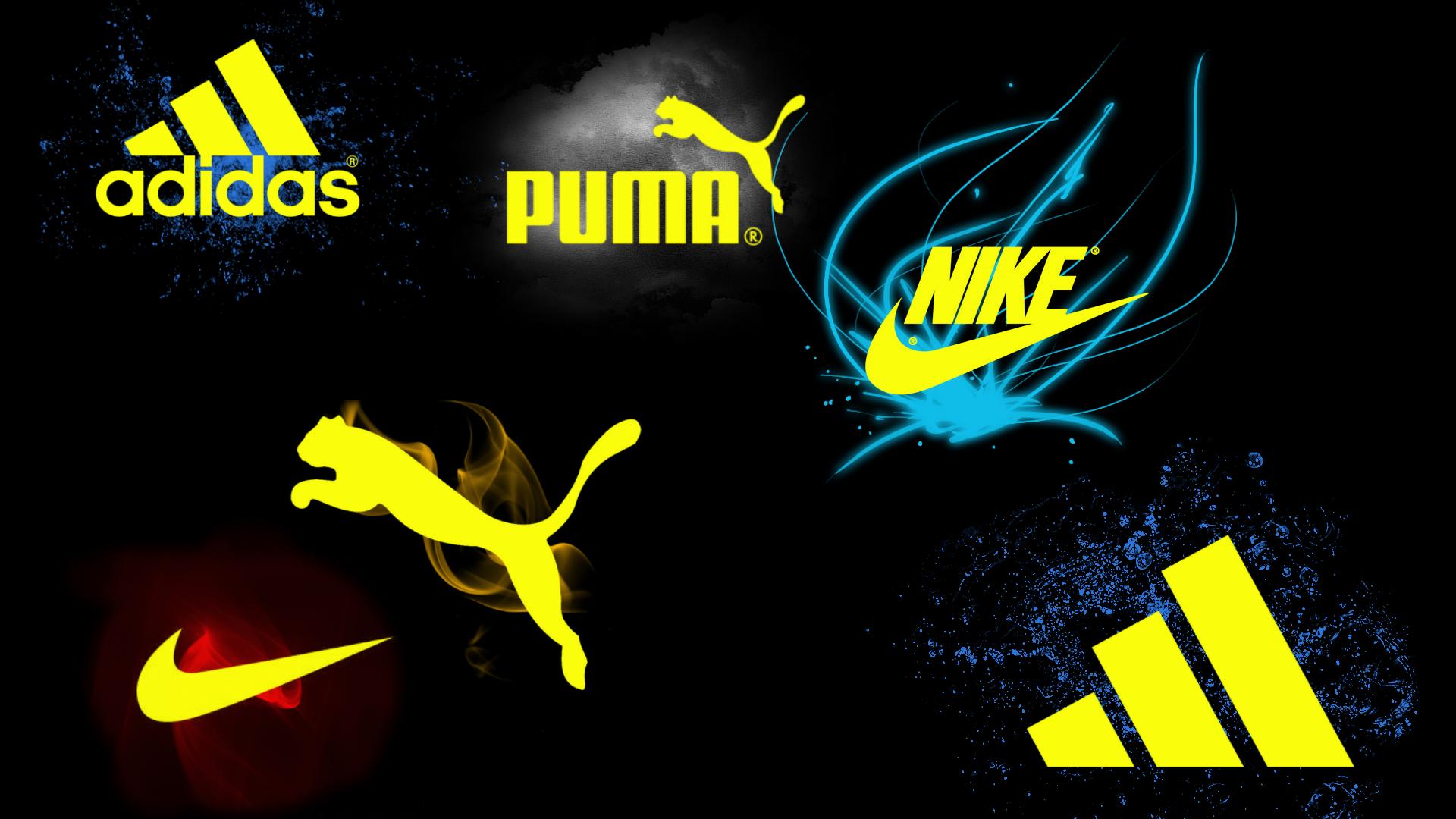 adidas nike and puma