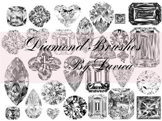 Diamond Photoshop Brushes by Lavica-Photoshop