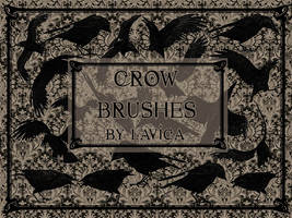Crows Photoshop Brushes by Lavica-Photoshop
