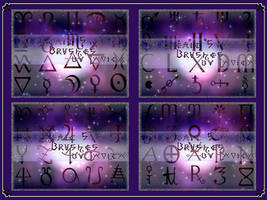 Alchemy Symbols Brushes by Lavica-Photoshop