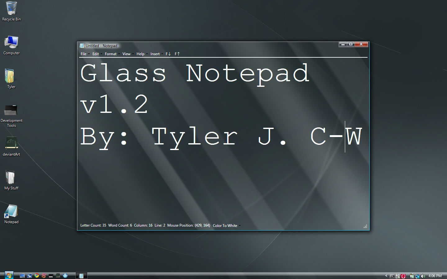 Glass Notepad