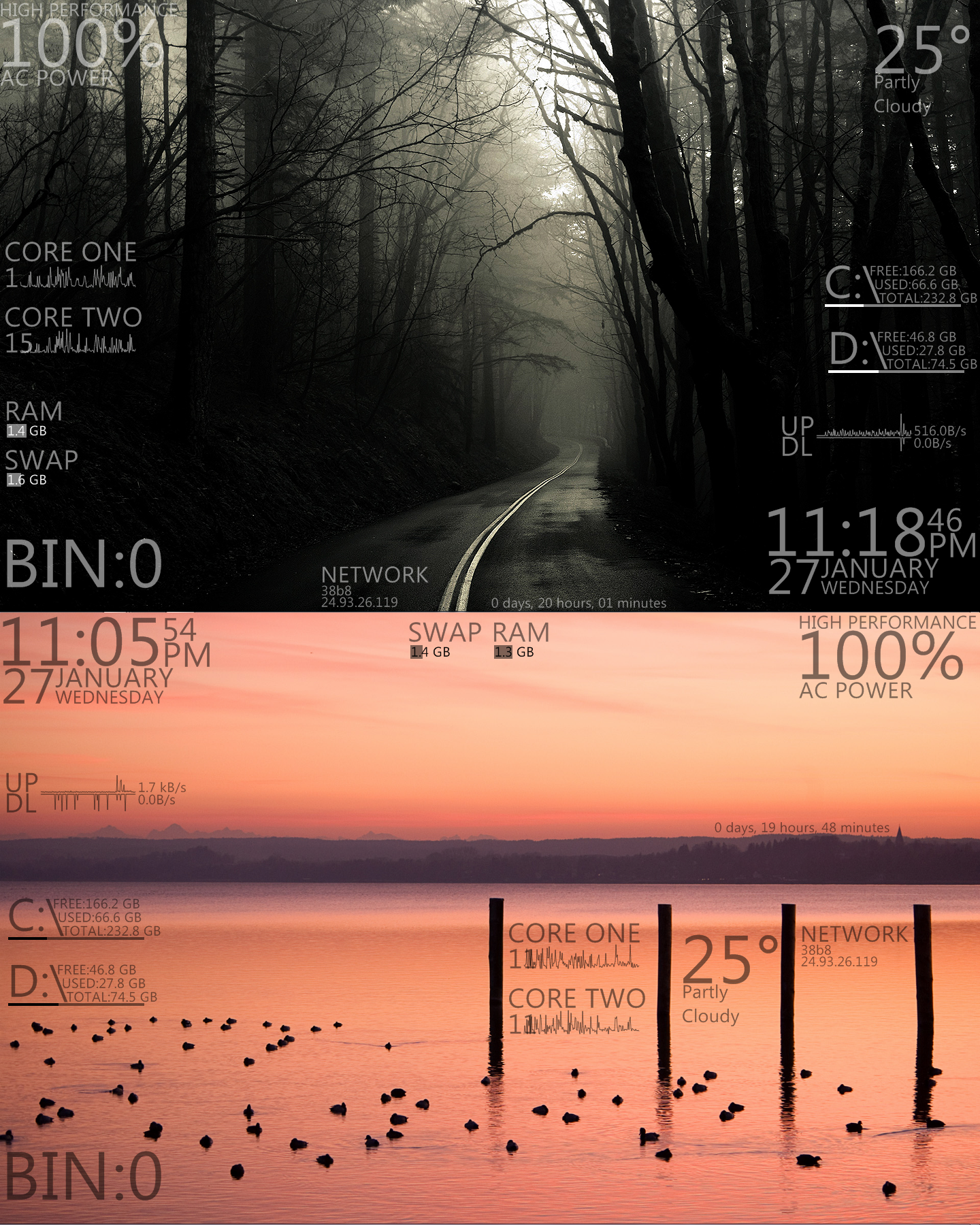 Flat v1.1 for Rainmeter