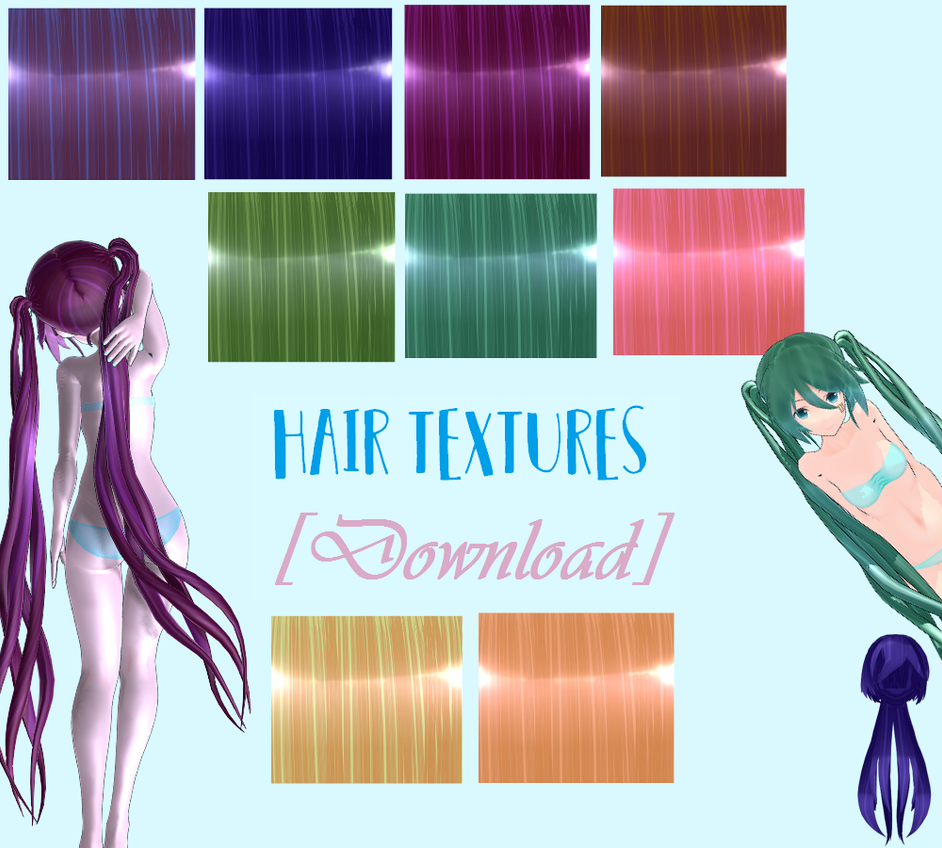 Hair textures [Download] by MayuKeks