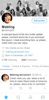 Twitter Layout  in Psd By Mabling