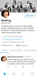 Twitter Layout  in Psd By Mabling by mabling