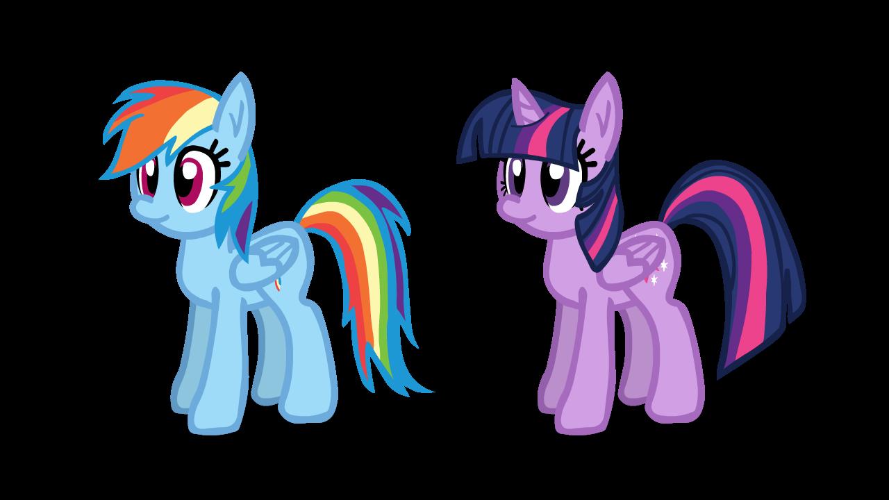 Tridashie's Twilight and Rainbow Flash Puppet Rig