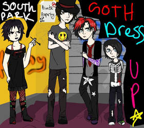 South Park Goth Dress Up by Toejones