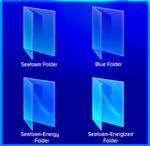 Blue and Seafoam Folder Icons