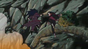 Hashirama-vs-madara by thundared