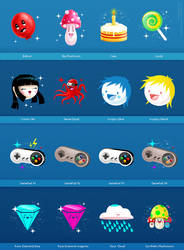 256x256 Icons Set 7 by dimpoart