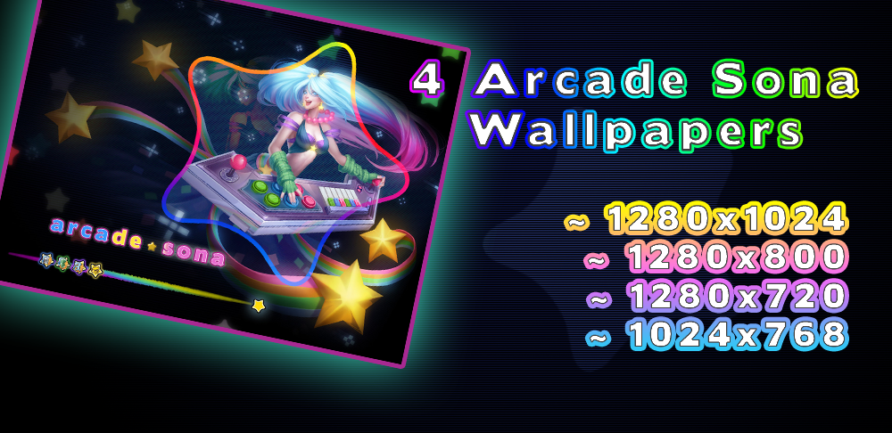 Arcade Sona - Wallpaper by MsCappuccino on DeviantArt  Arcade Sona Wallpaper