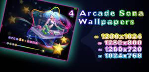 Arcade Sona Wallpaper