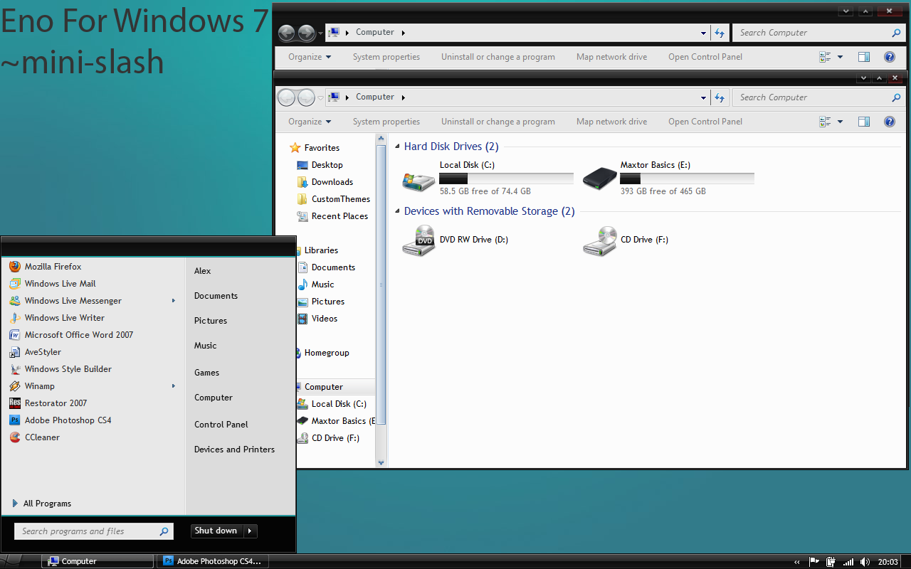 Eno for windows 7 by mini slash on deviantart for Affichage fenetre miniature windows 7