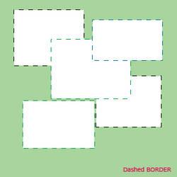 dashed border
