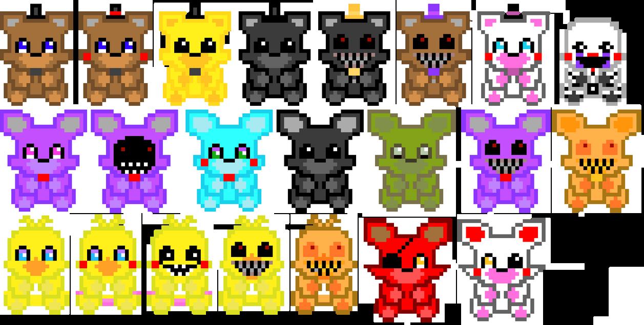 pixel art fnaf by fnafgirlygirlol
