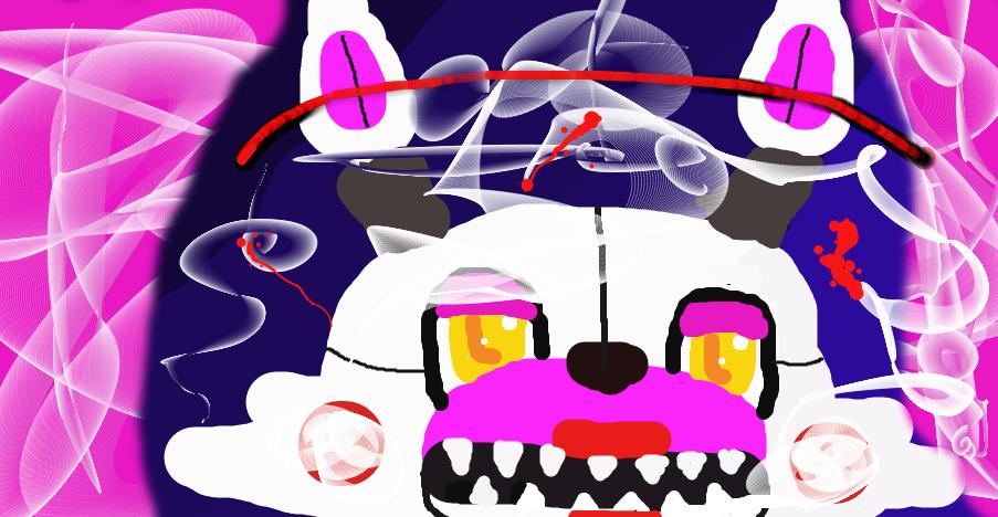 mangle / a animatronic fox by fnafgirlygirlol