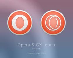 Opera Yosemite icons by umei