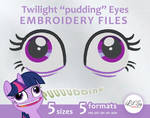 TwilightSparkle pudding eyes Embroidery files by LilSy-workshop