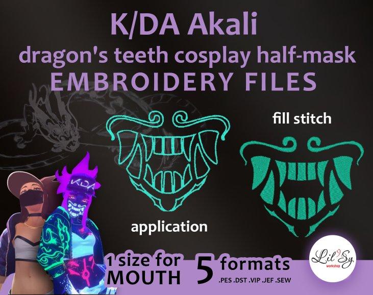 Lol Kda Akali Mask By Lilsy Workshop On Deviantart