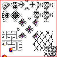 Korean Patterns 1 by KinnoHitsuji