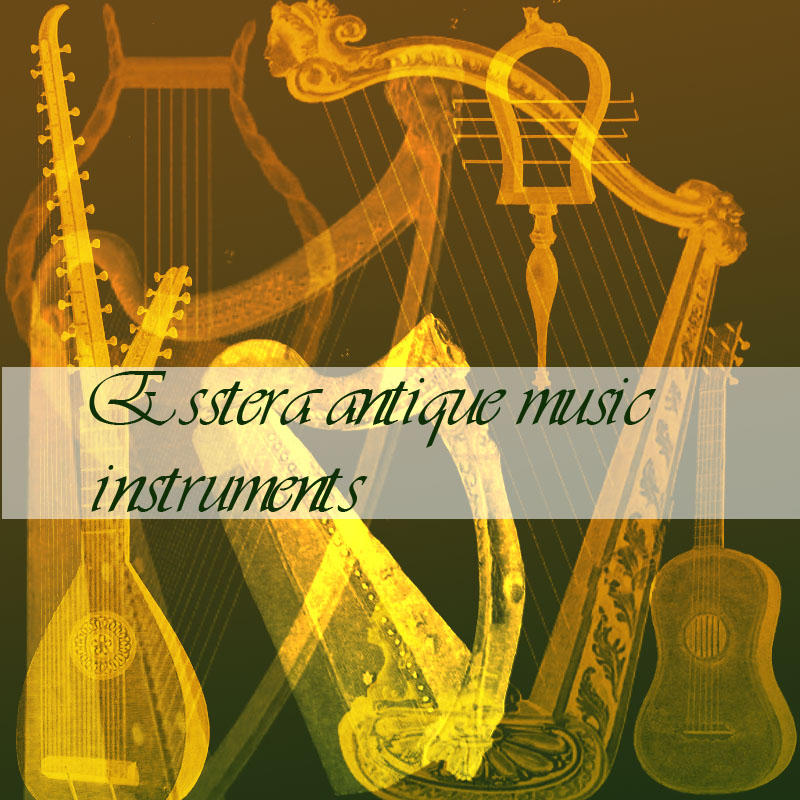 antique music instruments by esstera