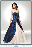 Blue Dress Ball Gown by LilyStox