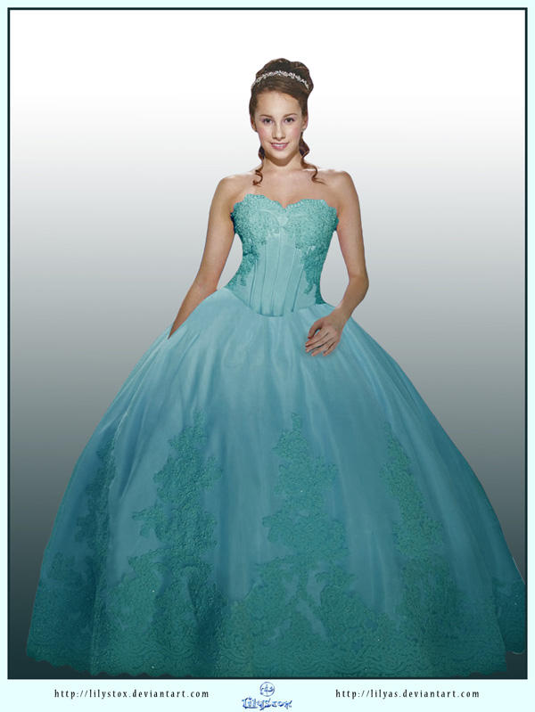 Turquoise Dress Ball Gown by LilyStox on DeviantArt