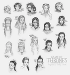 Targaryens and Tullys and Starks (Oh My!) - Sketch