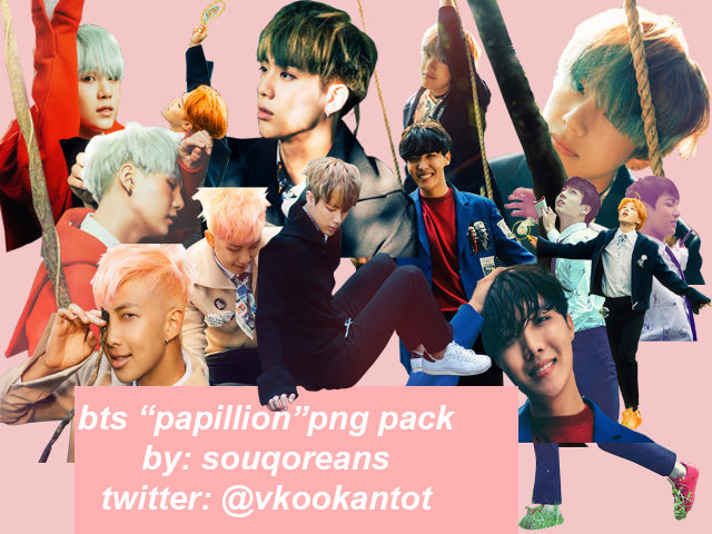BTS PNG PACK PAPILLON by souqoreans