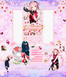 Sakura Uchiha Haruno Layout by Odorare-Design