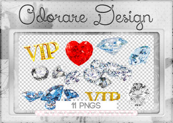 Diamonds Png Pack by Odorare-Design