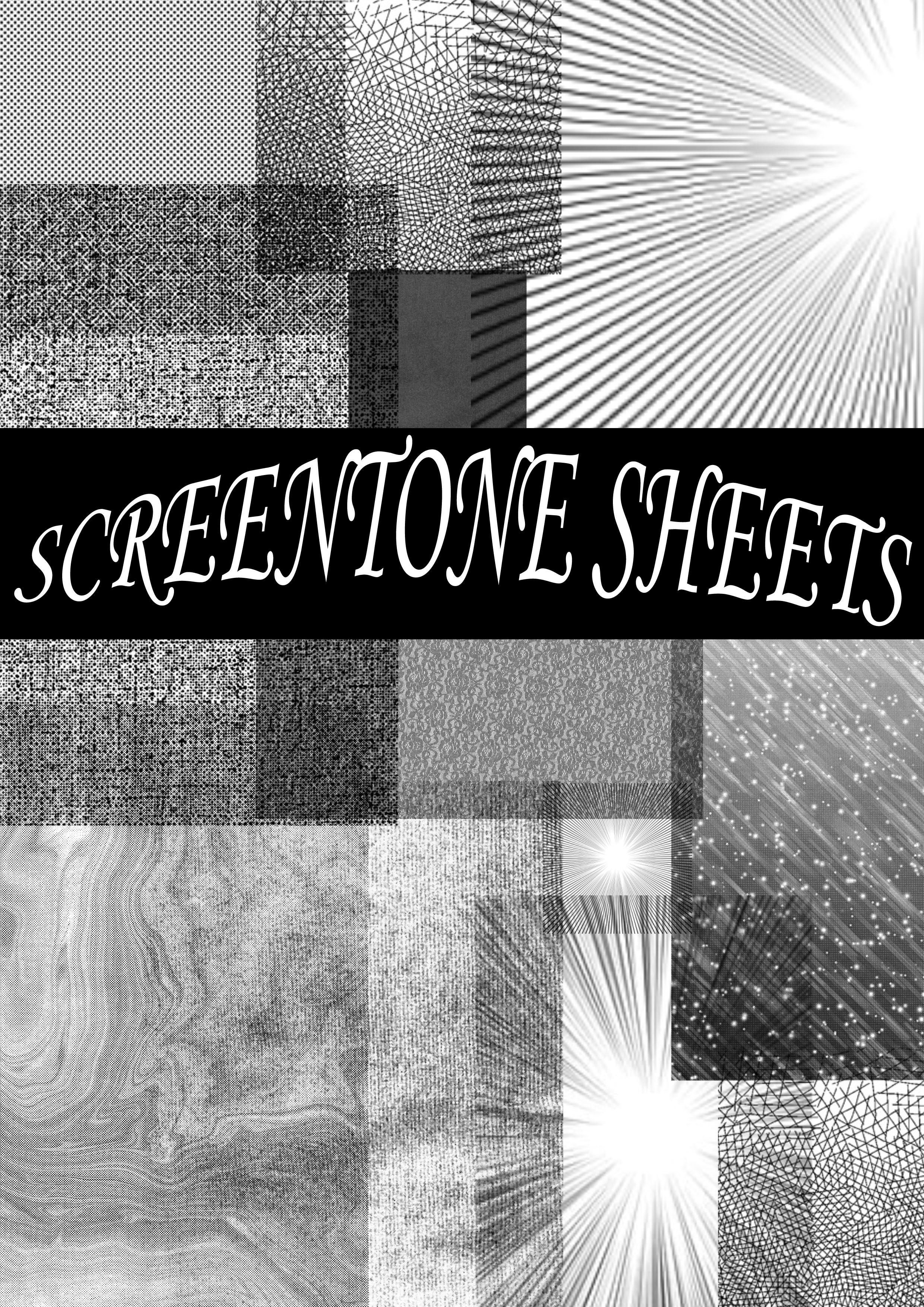 Screentone brush set by Winushka