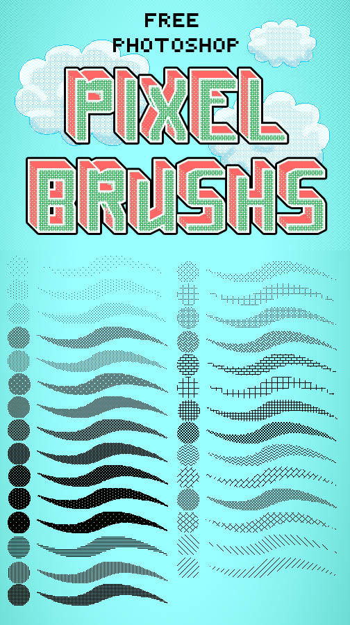Photoshop Pixel Brushes by Jelly-716
