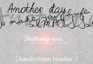 Brushes 01 Handwritten Revenge by brittany-xss