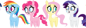 Pretty Pretty Ponies (mane 6)