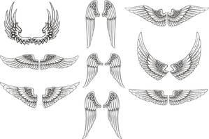 Free Vector Wings Pack by artamp