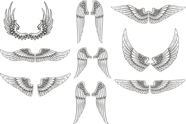 free vector wings pack by artamp on deviantart rh deviantart com free vector wings download free download angel wings vector