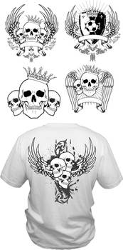 Vector t-shirt layouts